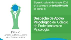 Premio al Despacho Apoyo Psicológico